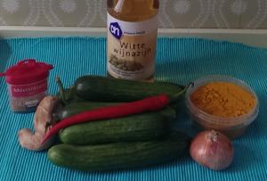 Ingredienten komkommers